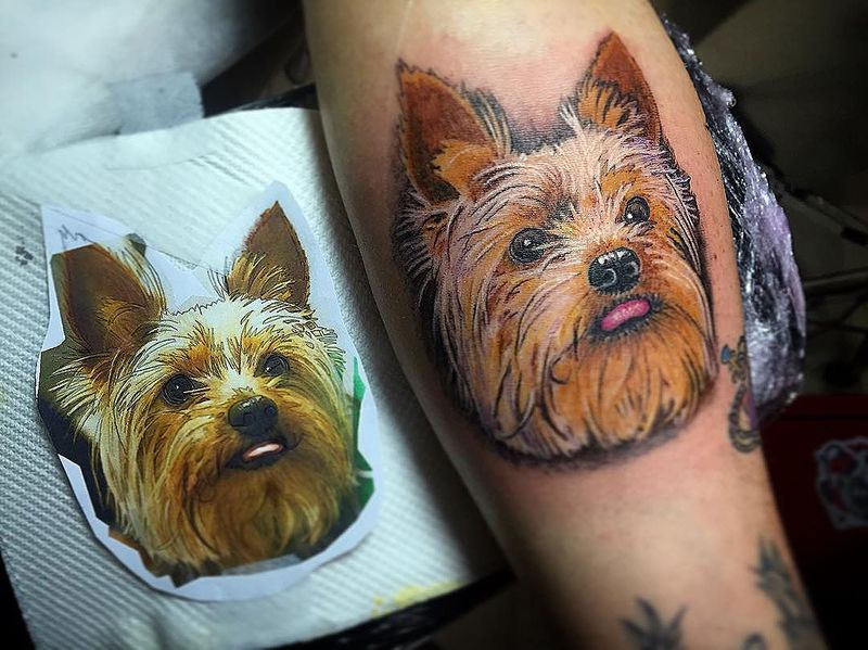 The 10 Coolest Yorkshire Terrier Tattoo Designs In The World